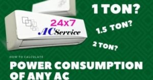 Read more about the article Power consumption difference between 1 ton and 1.5-ton AC